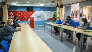 Reunión entre representantes socialistas en el Congreso y el Senado con los nuevos dirigentes sindicales de UGT y CCOO en Guadalajara