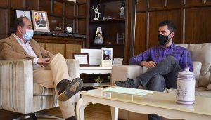 Rojo recibe al nuevo secretario general de CC.OO con quien se compromete a trabajar por un mejor empleo en Guadalajara