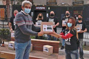 Vulturis muestra su apoyo a la hostelería del centro de Guadalajara