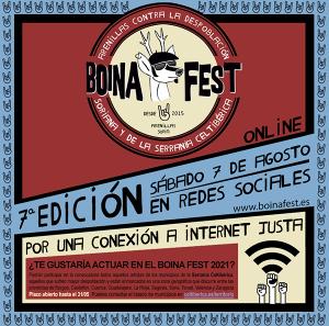 Boina Fest volverá a ser online y reivindica un acceso a Internet justo