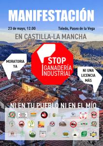 C-LM Stop Macrogranjas se manifestará este domingo para exigir una moratoria contra la ganadería industrial en Castilla-La Mancha
