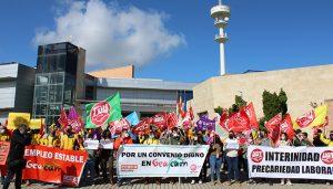 Delegados y delegadas de UGT y CCOO denuncian el riesgo que representan para los trabajadores y el medio natural los recortes de GEACAM