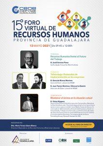 El 15º Foro de Recursos Humanos de Guadalajara tendrá lugar el 13 de mayo de manera virtual