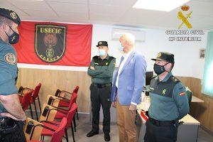El Subdelegado del Gobierno en Cuenca visita la Unidad de Seguridad Ciudadana (USECIC) de la Guardia Civil