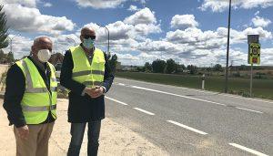 Finalizadas las mejoras en la travesía de la N-420 en Villar de Olalla