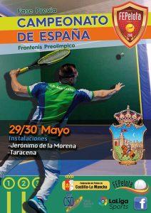 Guadalajara acoge las previas del Campeonato de España de Frontenis Absoluto Modalidad Preolímpica