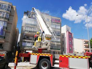 Incendio en un piso de la calle Fausto Culebras de Cuenca