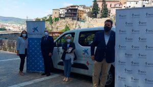 """La AECC de Cuenca dispondrá de vehículo para sus proyectos solidarios gracias a la colaboración de Fundación """"la Caixa"""" y Garaje Las Flores S.A."""