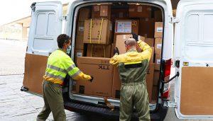 La Junta ha distribuido esta semana otros 300.000 artículos de protección en los centros sanitarios