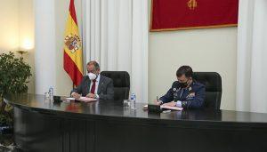 La UCLM y el Ejército del Aire firman un convenio para el desarrollo de actividades en el ámbito del proyecto de la Base Área Conectada, Sostenible e Inteligente