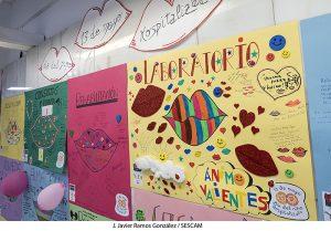 Mensajes y dibujos en el Hospital de Guadalajara por el Día del Niño Hospitalizado