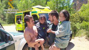 Rescatadas cuatro personas, dos de ellas menores, en el río Júcar a su paso por el Ventano del Diablo