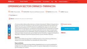 Adecco busca en Tarancón a 40 operariosas del sector cárnico