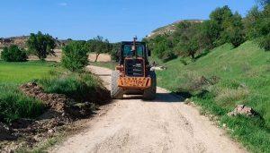 Arreglados cerca de 100 kilómetros de caminos rurales en Huete y pedanías