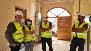 Diputación de Guadalajara y Subdelegación comprueban el avance de las obras en el cuartel de la Guardia Civil de Mondéjar