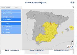 El Gobierno regional activa el METEOCAM en fase de alerta en toda Castilla-La Mancha ante la previsión de fuertes lluvias y tormentas