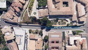 Este martes se retiran los restos de hiedra de los muros del Hospital de Santiago