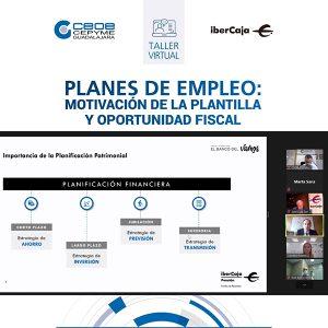 """Éxito del webinar """"Planes de empleo motivación de la plantilla y oportunidad fiscal"""" organizado por CEOE-Cepyme Guadalajara"""