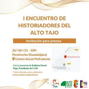 Peralveche acogerá el primer Encuentro de Historiadores del Alto Tajo