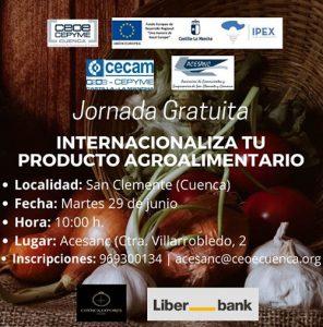 La sede de ACESANC acoge el próximo martes una jornada sobre internacionalización de alimentos y bebidas