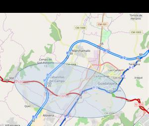 Licitada la redacción del estudio informativo de la variante de Guadalajara y acondicionamiento de trazado de la carretera N-320