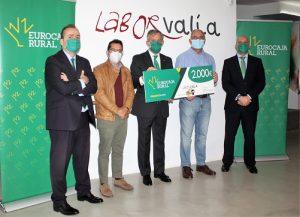 Personas con discapacidad intelectual, enfermedad mental y TEA, beneficiarios de la 'Ayuda Social' de Fundación Eurocaja Rural a Laborvalía, en Ciudad Real