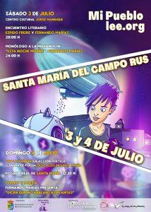 Santa María del Campo Rus inundará sus calles y plazas de literatura