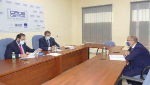 CEOE Cuenca presenta las líneas maestras de su plan de movilidad al presidente del PP en la región