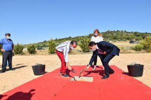 Diputación de Cuenca pone la primera piedra del parque de bomberos de Priego, una inversión de 2 millones de euros