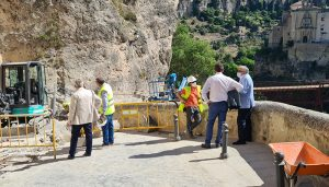 El Colegio de Ingenieros de Caminos destaca la rapidez con la que ha actuado el Ayuntamiento de Cuenca en la calle Canónigos