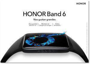 Honor lanza la Band 6, con una pantalla más grande y funcionalidades premium de monitorización de la salud