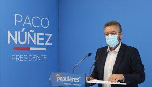 Moreno denuncia que la portavoz del Gobierno de Page miente con el porcentaje de vacunación