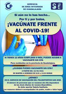 A partir de este miércoles podrán vacunarse en el San José los mayores de 12 años sin cita previa