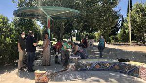 Comienzan los trabajos de recuperación de la Plaza Taiyo en el Parque de Los Príncipes