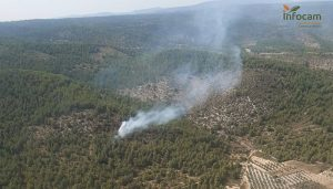 Controlados dos incendios en Cañada del Hoyo y Santa Cruz de Moya