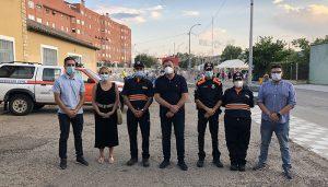 Dolz agradece la labor de los voluntarios de Protección Civil en el Recinto Ferial y los conciertos durante la Feria y Fiestas de San Julián 2021