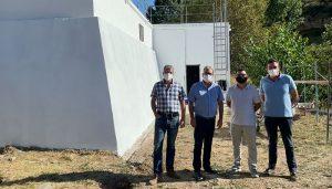 El Gobierno regional acomete trabajos de impermeabilización del depósito regulador de agua potable de Pastrana