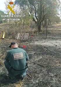 La Guardia Civil pone a disposición judicial al autor del incendio de Pozorrubio de Santiago