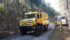 Medios de Cuenca y Guadalajara parten para ayudar a sofocar el incendio de Ávila
