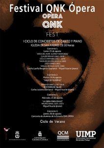 Primer ciclo de conciertos de canto y piano dentro del festival de opera de cámara Qnk.opera