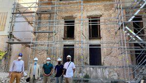 Responsables de Enagás visitan las obras de la antigua Iglesia de San Simón de Brihuega