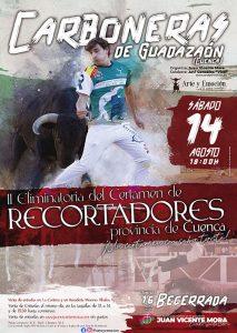 Carboneras de Guadazaón celebrará la segunda eliminatoria del I Certamen de Recortadores de la Provincia de Cuenca