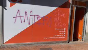 Aparecen pintadas en la sede de Ciudadanos en Cuenca