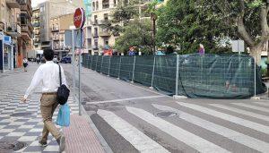 Comienzan las obras de emergencia en la Plaza de la Hispanidad de Cuenca