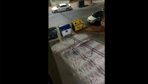 El Ayuntamiento de Cuenca pide a la población no hacer uso del vechículo privado ante la fuerte tormenta caída