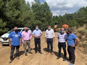 El Gobierno regional y la Diputación de Cuenca comienzan con las actuaciones de adecuación de caminos forestales en la provincia