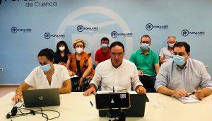 El PP califica de 'clave y nefasto' para Cuenca este final de legislatura y se prepara para la Convención de Valencia