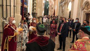 Entrega simbólica del Pendón de Alfonso VIII al Ayuntamiento de Cuenca