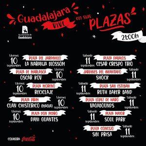 'Guadalajara vive en sus plazas' duplica actividad este fin de semana y regresa una nueva edición de 'Noches de luz y fuego'