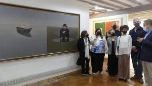 La familia de Alfredo Castañeda dona el cuadro Esperando para partir a la Fundación Antonio Pérez